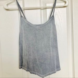 Light Heather blue cropped tank